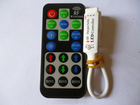 Mini 12-24V 12A 288W RF Wireless Remote Led Dimmer Controller For RGB Color Led Light Strip RGB led control