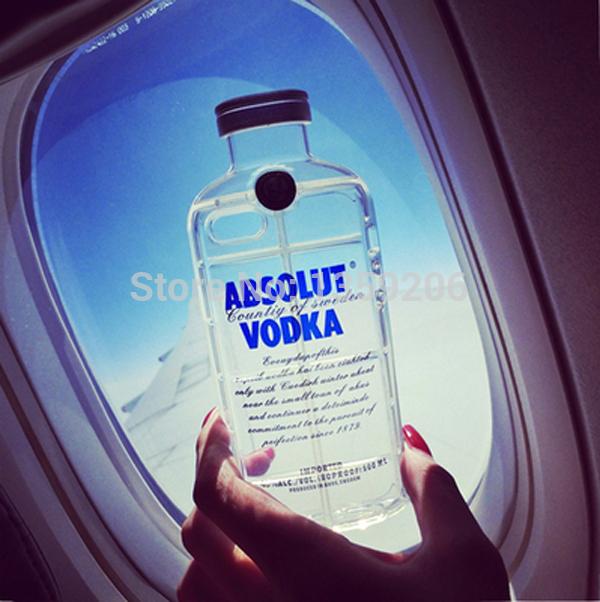 hot vente 2014 luxe vodka absolue de haute qualité tpu pour couvrir les cas de cristal transparent iphone5s 5 5g nouvelle livraison gratuite