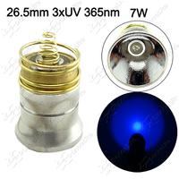 Newest ~ UV 7W 26.5mm 3xUV 365nm LED Modules 3*Chip UV 365nm Drop in for UltraFire 501B 502B Flashlight