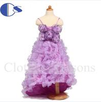 Sweep Train Vestido De Festa Baby Toddler Girl Gown  Vestido Daminha Casamento Flower Girls Pageant Dresses Vestidos De Menina
