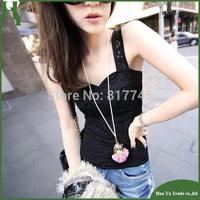 T062 New Fashion 2013 Camisetas Femininas Women Back Cross Lace Camisole