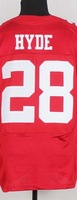 usa rugby football jersey,San Francisco #28 Carlos Hyde red Men's,embroidery logo size 40-56