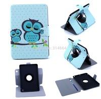 360 Rotating Cartoon Handlebar Sleeping Owl TPU Package Edge Flip Stand TabletPC Case For iPad Mini With Mini Retina Display