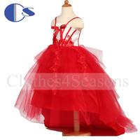 Sweep Train Vestido De Festa Baby Toddler Girl Vestido Daminha Casamento Bandage Pageant  Vestidos De Menina Party Dresses