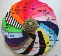 10pcs/lot Free shipping 20colors  solid baby hat baby cap infant Cotton Infant Hats Skull Caps Toddler Boys & Girls gift