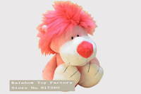 Free shipping standing height 25 cm nici Poker Series lion plush toy Pink spade lion toy NICI animal lion toys for kids gift