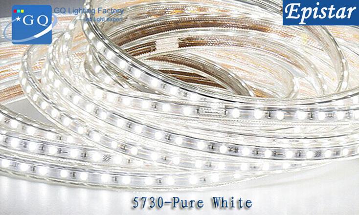 5m 220v 230v 240v decoration light led string tape high brightness high light 5730 LED strip light(China (Mainland))