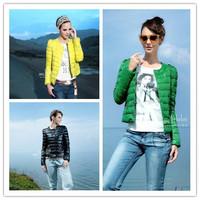 Plus size ladies winter down jacket soft single-breasted style o-neck slim short cotton down padded coat agasalho feminino