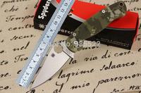 "Custom Knives Spyderco C81GPCMO2 Paramilitary 2 Knife S30V Digital Camouflage G-10 Scales (3.44"" Satin Plain)"