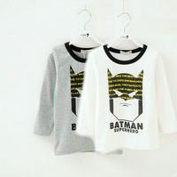 5Pcs Roupa Infantil Wholesale New Winter Boys Girls Baby Batman Cotton T Shirt Clothes Shirts Chemisier Children Import Clothing