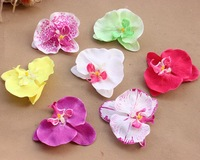 50pcs/lot 10cm 7 colorshandmade artificial butterfly orchid silk flowers for Vivi bridal beach travel hairpin hair accessories