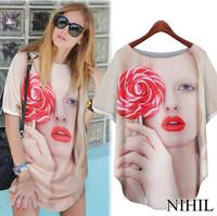 Short Sleeve Silk Blouse Fashion Shirt Women Clothing Ladies Body Long Satin Blouses Sheer Blusas Femininas 2014 New Summer Tops