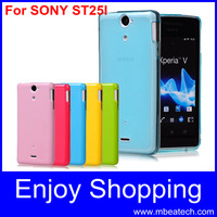wholesale 15 pcs/lot transparent protective st25i cover silicone case for sony xperia u