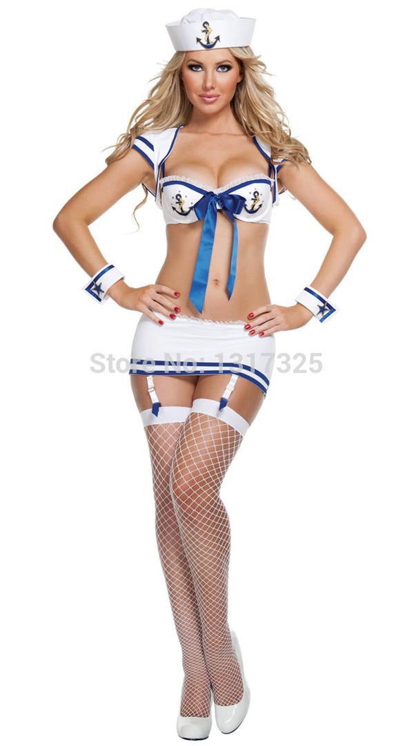 Uniforms White Sexy White Navy Uniform
