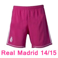 New arrival 14/15 Real Madrid away Pink shorts Soccer Shorts,2015 best quality Football Shorts