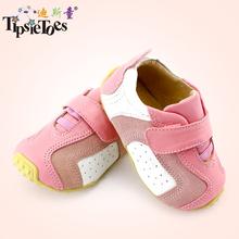 Tipsietoes бренд свободного покроя овчины детские малыш малыш обувь мокасины для девочек первые ходунки 2014 осень весна мода 63310