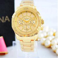 New Arrive 2014 Luxury Brand Women Wristwatch Crystal Rose Gold Geneva Michel Quartz Watch relogios feminino montre femme reloj