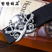 2014 South Korea new brand Men's fashion Smooth buckle belts,Men female 100% High quality joker PU belts+Metal belt buckle women