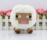 30pcs/set  white  Genuine JJ dolls stuffed Minecraft plush creeper plush creeper coolie afraid of plush toys of my world