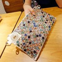 Fashion women's handbag clutch 2014 female clutch bag genuine leather banquet bag evening bag with diamond day clutch