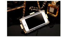2014 Hot!Luxury Building Blocks Handbag Case Soft TPU Plated Case Cover With Leather Chain For Iphone 5 5G 5S 4 4S Free Shipping