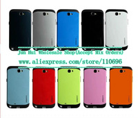 Wholesale 50pcs/l SGP SPIGEN Slim Armor Armour Case for Samsung Note II 2 N7100 7100 + Retail packaging