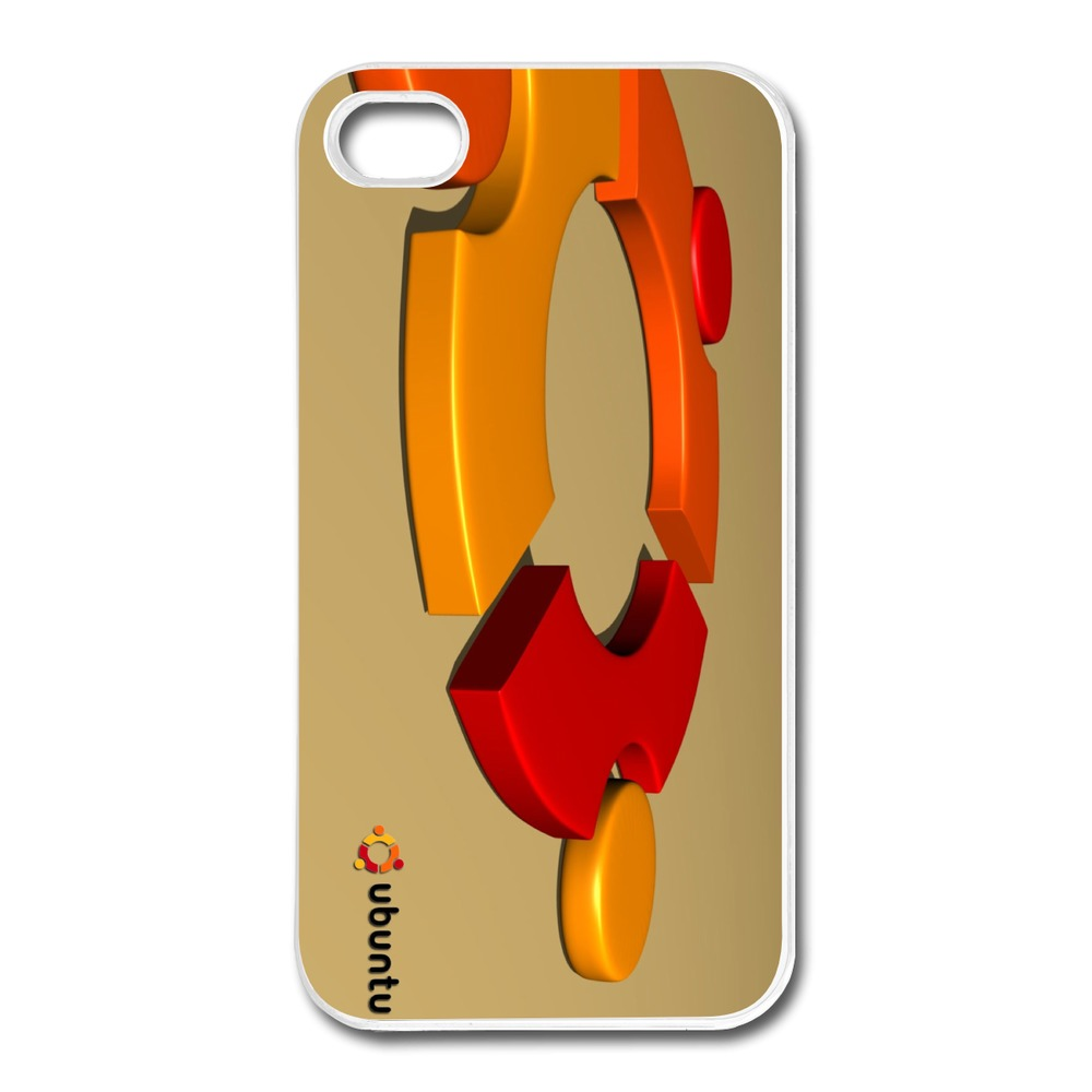Dropshipping Hard Case ubuntu 3D Logo Design For Iphone Cover 4s Accept Your Own Picture(China (Mainland))