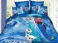HOT 2014 NEW 3d Frozen bedding sets bed set cover frozen bedsheet frozen bed linen bedclothes Single double queen Anna & Elsa