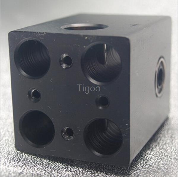 3D printer accessories Ultimaker aluminum cross slide black oxide treatment ,heating block(China (Mainland))