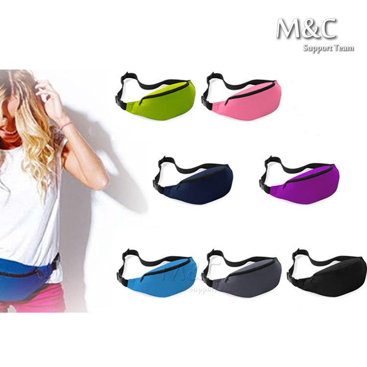 2014 Fashion Classic Bum Bag Men's waist bag Money Pouch Running Waist Bag Pack Belt Zip sports waist packs 7 Colors(China (Mainland))
