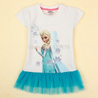 e-limited Rushed Peppa Spiderman Kids Snow Princess Romance Sleeve T-shirt Wholesale Children's Clothing for Girls Queen