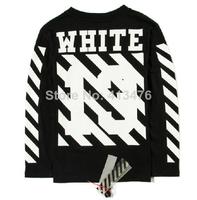 men's brand off white T-shirt Kanye West long sleeve under tee print religion 13 stripe slim fit shirt cotton PYREX vision