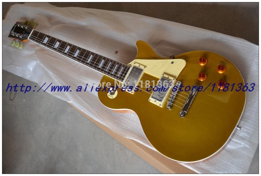 Free Shipping 1957 New VOS Jinfeng gold top electric guitar electric guitar free shipping chrome backing hum pickup(China (Mainland))