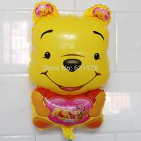 20pcs/lot  Alien  helium balloons winnie balloon for birthday party decorations bear aluminum foil helium balloons