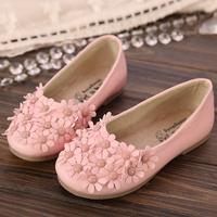 Children shoes 2014 small decoration princess shoes dance shoes soft outsole little flower casual shoes