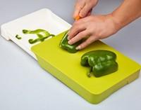 Kitchen supplies multifunctional drawer storage chopping block double layer cutting board antibiotic chopping board plastic