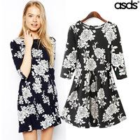 Dresses New Fashion 2014 autumn -summer Supernova Sale Half Sleeve Casual Evening Vintage Party Lace Novelty Dress