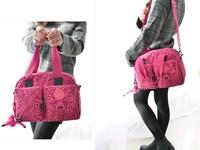 1pcs 2014 new kip monkey nylon handbag fashion women multifunction zipper bag free shipping
