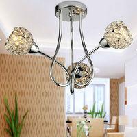 Creative arts K9 crystal ceiling light sitting room dining-room european-style bedroom lighting YSL-CC07 Free Shipping