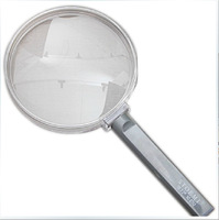 100mm plastic handle metal Frame & Optical Glass Lens Magnifier high definition Magnifier Reading Magnifier Glass lens Loupe