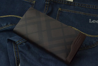 2014 harrm's Male genuine Leather long Design Wallet,fashion wallet for gentleman,free shipping!!!