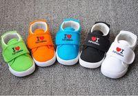 children Breathable non-slip flat canvas sneakers I LOVE Papa&Mama,inner length 13-16.8 cm,Blue,Orange,Green,Black,White