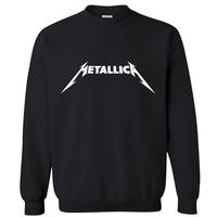 2014 spring autumn famous music brand metallica rock and roll hip hop casual pullover man hoodies sweatshirt sportswear moleton