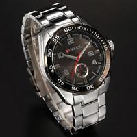 CURREN Brand Stainless Steel Analog Display With Date Luxury Fashion Watch Men Wristwatch
