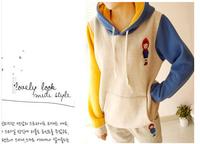 New 2014 Womens Long Sleeve Hoodie Cardigans Coat Women's hoodie Sports Wear Track Hoodie Sweatshirt Free shipping