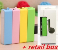 wholesale 2600MAH Portable Dual USB  Battery Power Bank External Battery Charger for  iPhone iPad HTC Samsung Nokia Mobile Phone