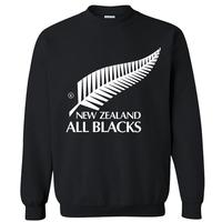 2014 spring autumn famous football brand new zealand all black casual pullover man hoodies sweatshirt sportswear moleton