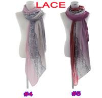 (10pcs/lot) Ladies printe lace 100% viscose shawls spring long cotton voile head hijab wrap muslim scarves/scarf 10pcs/lot