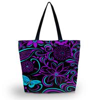 Purple Swirl Soft Foldable Tote Women's Shopping Bag Shoulder Bag Lady Handbag