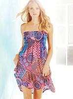 2014 best selling summer dress vestidos  Sweet crochet beach dress spaghetti strap bikini full dress skirt